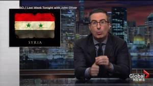 John Oliver warns of the dangers of praising President Trump over military action