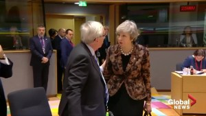 Theresa May and Jean-Claude Juncker share frosty exchange ahead of Brexit summit