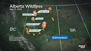 Alberta wildfires: Lightning a concern near Slave Lake Saturday