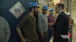Premier Brian Gallant visits Sussex for the first time since mine closure announcement
