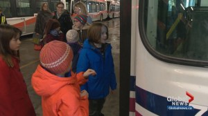 Calgary boy says goodbye to his favorite bus