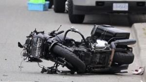 Mission motorcyclist injured in crash
