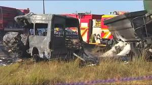 Twenty killed in school minibus crash in South Africa