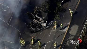 UPDATE: 4 dead in fiery multi-vehicle collision on Highway 440