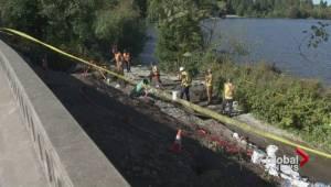 Water main leak near Lost Lagoon