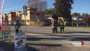 Kelowna neighbourhood gas line rupture