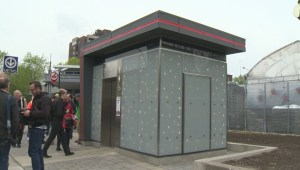 Self-cleaning toilet for Chinatown on hold