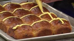 Hot cross buns from Vancouver's Beaucoup Bakery