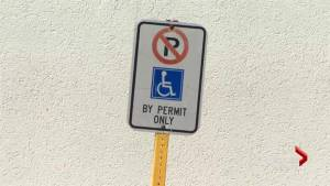 Moncton man aims to shame able drivers parking in spots for disabled