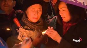 John Tory, Kathleen Wynne and Doug Ford attend Toronto van attack night vigil