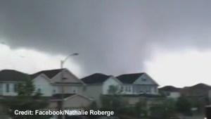 Cellphone video captures tornado ripping through Angus