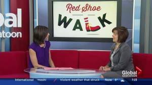 Wearing red shoes for Ronald McDonald House