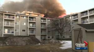 Fire crews say west Edmonton apartment fire could have been worse