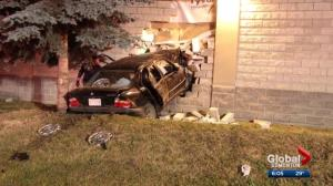 Violent turn of events in Wetaskiwin ends with vehicle crashing into side of grocery store