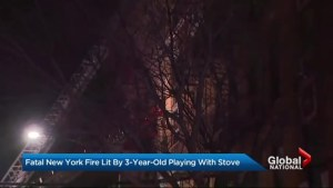 Fatal New York fire lit by 3-year-old