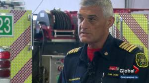 Calgary's fire chief speaks out on budget cuts (01:45)