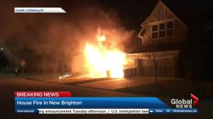 House fire in New Brighton