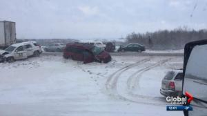 Winter storm closes portion of QEII