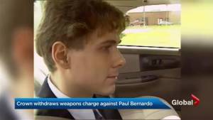 Weapons charges against Millhaven inmate Paul Bernardo dropped