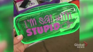 Durham parents push Walmart to pull 'I'm sat with stupid' pencil case off its shelves
