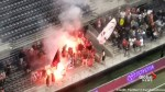 'Look what they did to our field': Fire interrupts soccer match between TFC and Ottawa Fury