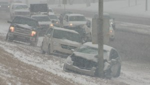 Snow causes all kinds of problems on Calgary roads