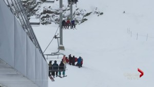 Video shows rescue of young skier dangling from Whistler chairlift