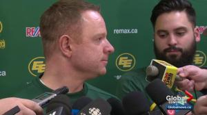 Edmonton Eskimos clean out their lockers after CFL West Final loss
