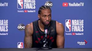NBA Finals: Kawhi Leonard thanks Toronto for support