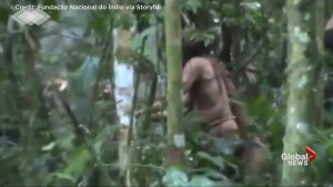 Authorities in Brazil record man believed to be last surviving member of isolated indigenous tribe