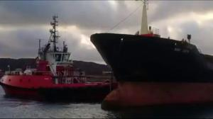 Disaster narrowly averted In rough seas off NL