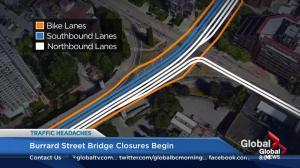 Burrard Bridge closures begin for $35 million retrofit project