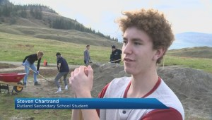 Students rally together to help build new regional park's first trail