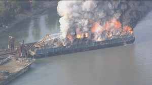 Environmental impact of Surrey barge fire