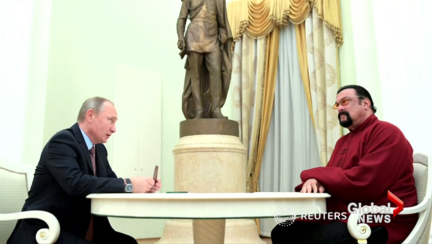 Click to play video: 'Russia tasks Steven Seagal with improving U.S. ties'