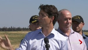 Prime Minister tours wildfire damage zone
