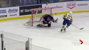 Saskatoon Blades beat Regina Pats 2-1 in shootout
