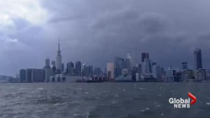 Timelapse shows storm moving over Toronto
