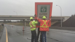 Flood waters shut down section of TransCanada highway