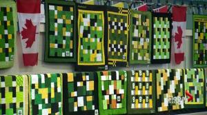 Quilts for Humboldt Broncos