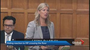Constituents react to Leona Alleslev's shocking floor crossing
