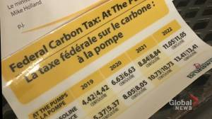 N.B. sends controversial carbon tax stickers to gas stations