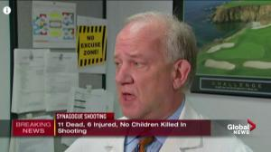 Medical official says no one died after arriving to hospital after synagogue shooting, 1 officer injured has been released