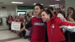 Canadians welcome Pyeongchang Olympians home across the country