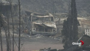 Wildfire devastation at Boston Flats