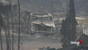 Wildfire devastation at Boston Flats
