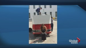 Global sports anchor Michelle Farrugia accepts ice bucket challenge