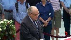John McCain funeral: Rudy Guliani and John Kasich pay respects at U.S. Capitol