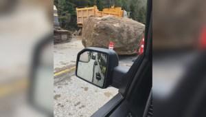Okanagan driver describes driving through rockslide