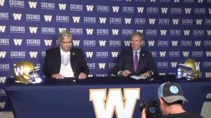 David Asper speaks after being inducted into the Blue Bombers Hall of Fame